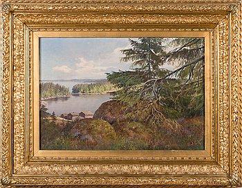 Johan Elis Kortman, Forest view at the shore.