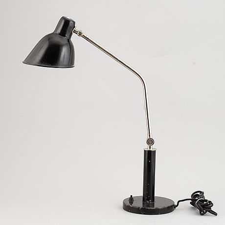 A metal table lamp from böhlmarks, 1930s.
