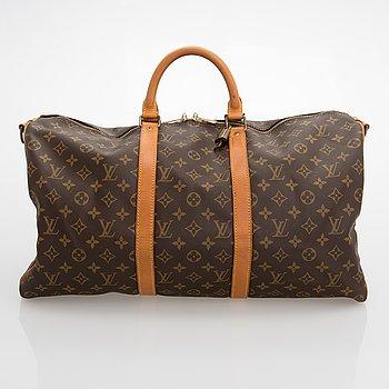Louis Vuitton, A Monogram 'Keepall Bandouliere 50' weekendbag.