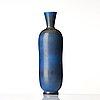 "Berndt friberg, a blue glazed ""rabbits fur"" stoneware vase, gustavsberg studio, sweden 1961."