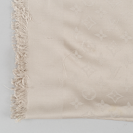 Louis vuitton, a silk and wool mix scarf.