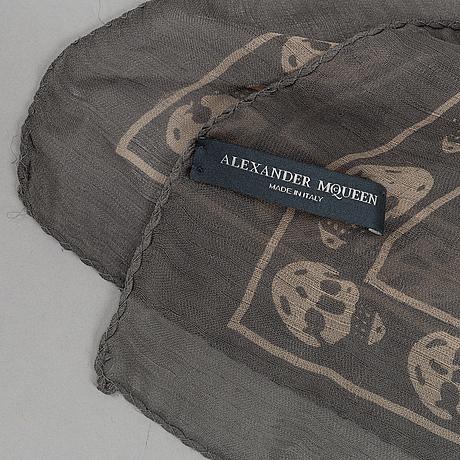 Alexander mcqueen, two silk scarves.