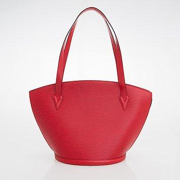 Louis Vuitton, A red Epi leather 'Saint Jacques GM' Bag.