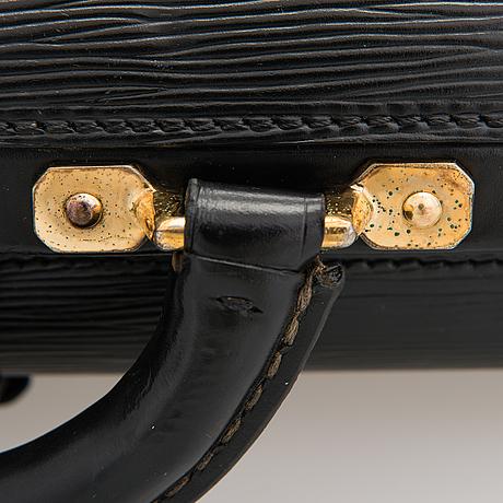 Louis vuitton, a black epi 'robusto' briefcase.