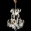 A rococo style chandelier, first half of the 20th century.