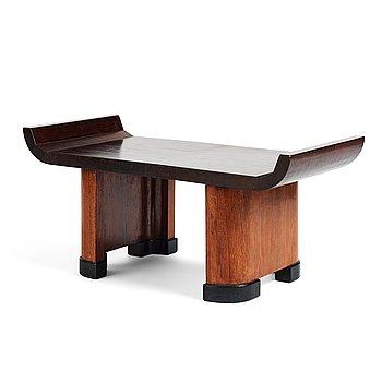 280. A Modernist mahogany stool, 1920's-30's.