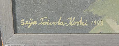 Seija toivola-koski, akryyli kankaalle, signeerattu ja päivätty -83.