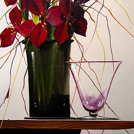 Terry laakso, a signed oil on canvas.