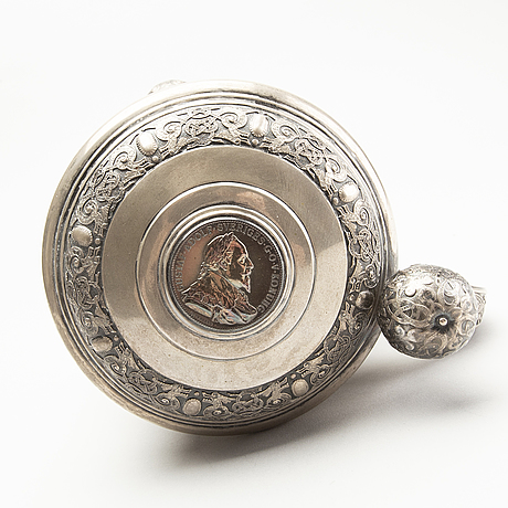 A swedish baroque style silver jug from 1900.