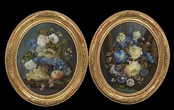 Okänd konstnär 1800-tal , a pair of water colours.