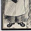 Albert engström, ink drawing, signed.
