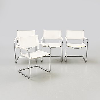 Armchairs 4 pcs Italy late 20th century.