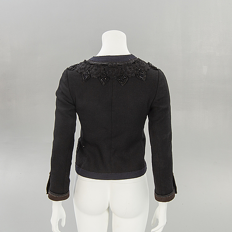 Prada, italy, jacket / wool, wool applications.
