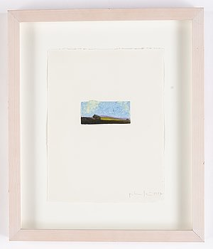 Peter Frie, etching with colloring, monotype, signed and dated 1997.