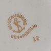 "Stig lindberg,, service parts, five parts, ""lb"", bone china, gustavsberg, second half of the 20th century."