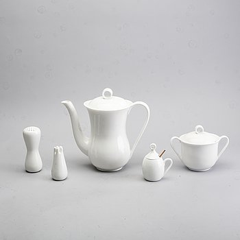 "Stig Lindberg,, service parts, five parts, ""LB"", bone china, Gustavsberg, second half of the 20th century."