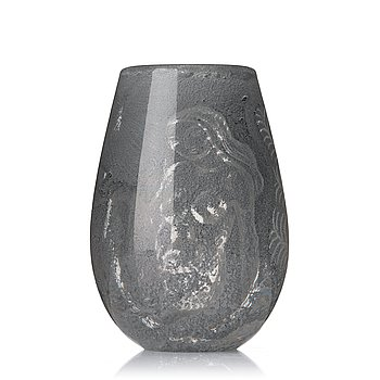 "14. Nils Landberg, ""expo 129"", a unique glass vase, Orrefors 1944."