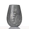 "Nils landberg, ""expo 129"", a unique glass vase, orrefors 1944."