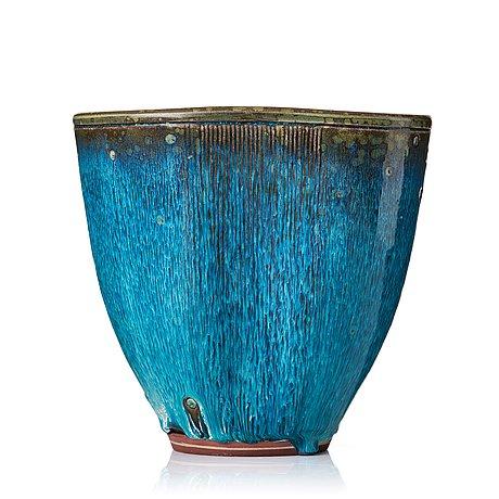 "Wilhelm kåge, a ""farsta"" stoneware vase, gustavsberg studio, sweden 1960."