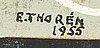 Esaias thorén, blandteknik, signerad och daterad 1955.