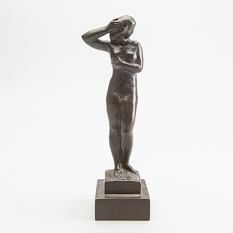 Anders olson, a signed and dated bronze sculpture.