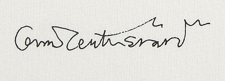 Oscar reutersvärd, a signed and dated ater colour.