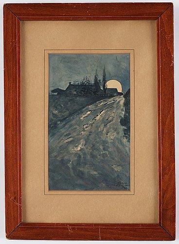 Gösta adrian-nilsson, moonlit road.