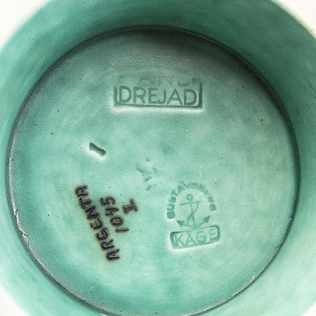 """Wilhelm kåge, urn, 2 stoneware, """"argenta"""", gustavsberg."""