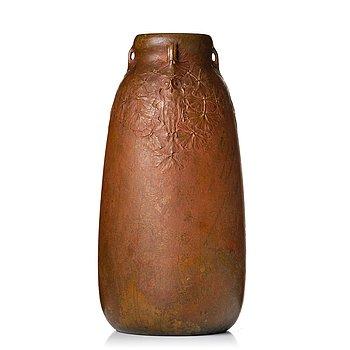 272. Hugo Elmqvist, an Art Nouveau patinated bronze vase, Stockholm early 1900's.