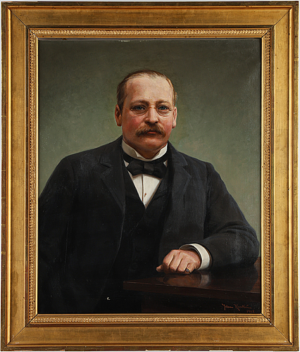 Johan krouthén, oil on canvas, signed and dated 1908.