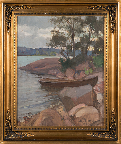 Wilho sjöström, oil on canvas, signed and dated 1937.