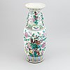 A chinese famille rose floor vase, qing dynasty, late 19th century.
