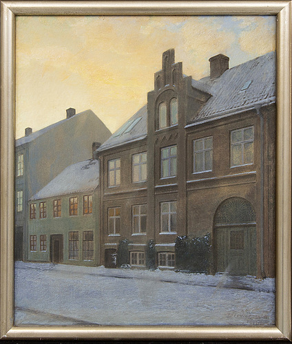 Theodor jönsson, a signed and dated oil and pastel on canvas.