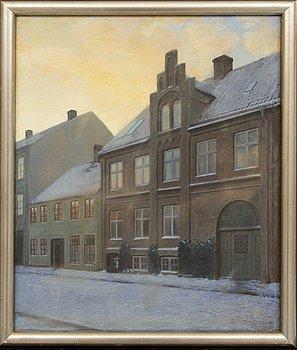 Theodor Jönsson, olja och pastell på duk, signerad och daterad 1912.