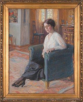 Wilho Sjöström, Nainen nojatuolissa.