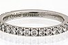 Eternity-band platinum 19 brilliant-cut diamonds approx 0,50 ct in total, butler malmö.