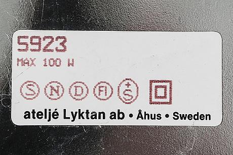 """Per sundstedt, golvlampa, """"mars"""", ateljé lyktan, åhus, 1900-talets andra hälft."""