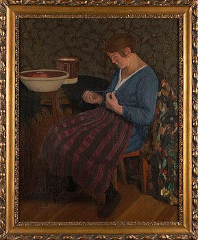 Juho Rissanen, oil on canvas, signed and dated 1919.