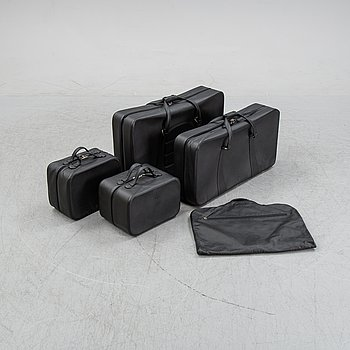 Five brack leather bags from Schedoni, Italy. For Ferrari 456.