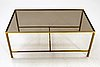 A  late 20th century brass coffee table.