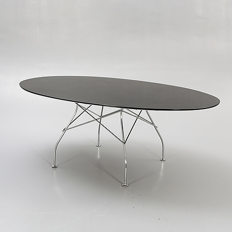 "Antonio citterio & oliver löw, table ""glossy"" for kartell, late 20th century."