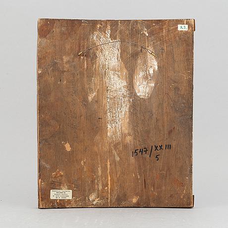 Ikon, tempera på pannå, ryssland, sent 1800-tal.