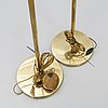 A pair of brass floor lamps 21st century.