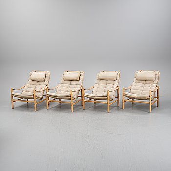 Four 'Junker' easy chairs by Bror Boije for Dux, second half of the 20th Century.