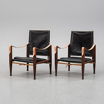 A pair of safari chairs by Kaare Klint for Rud.Rasmussen, designed 1933.