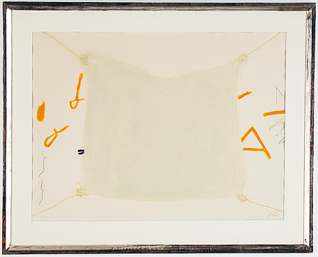 Antoni tàpies, carborundum etching, signed and numbured, 48/75.