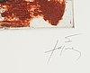 Antoni tàpies, etching, signed and numbured ix/xxv.