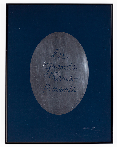 Man ray, silkscreen and plexi, signed and numbured 25/100.