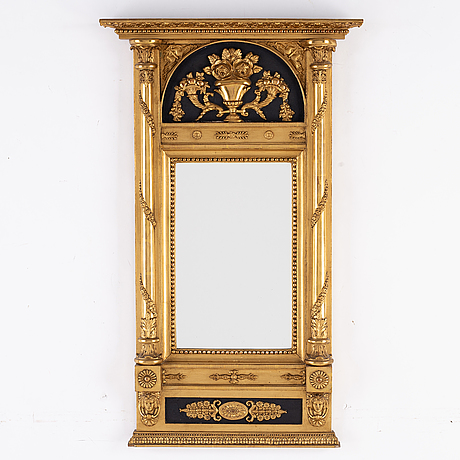 An empire mirror by jf sellberg dated 1823.