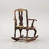 A rococo rocking chair, 18th century.